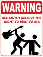 Concert Warning Sign by gibralter-syndrome
