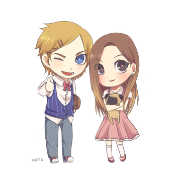 Pewdie and Cutie by natto-ngooyen