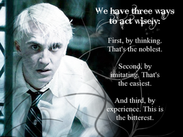 Confucius quote - Draco Malfoy by Shinaya