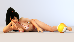 Momiji 3DS Render 4 by x2gon