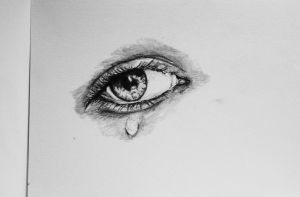 Crying Eye by xTitanic