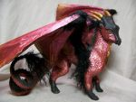"""Scarlet"" ooak dragon 2 by AmandaKathryn"