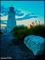 Lighthouse by the Port by iAmAddel