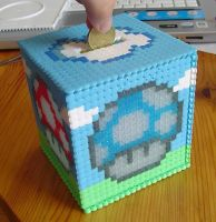 Hama Beads - Moneybox 1UP by acidezabs
