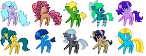 Pony Adopt Batch 2 by EnvyXtheXPalmXTree