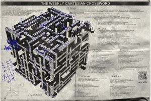 Cartesian Crossword - Filled by tower015
