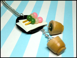 Dango + Matcha Necklace by GrandmaThunderpants