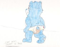 Care Bears - Grumpy on diaper by MortenEng21