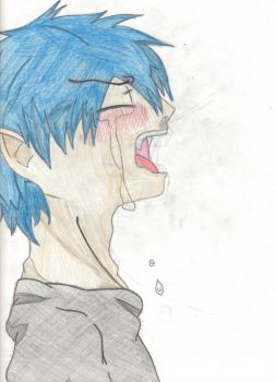 rin okumura crying -colored- by yuukihana