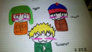 South Park Chibis Part 1 by SpazzyPineapple101
