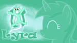 Over Excited Pony - Lyra Wallpaper by cradet