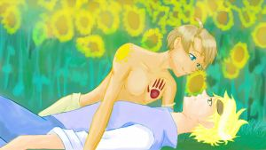 Usuk and for once never wonder what their worth by HeavansHell