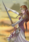 kIMIcOOKIE - tha Princess Zelda_SwordsWoman by KeirTanaka