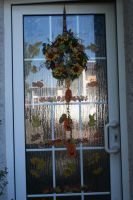 door decortion for autumn made today by ingeline-art