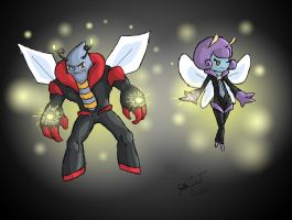 Volboss and Illumistress by cooldeadpool15