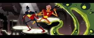 CaptainMarvel and AdamWarlock... by tnperkins