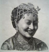 Sketch of my wife by Sumanartist