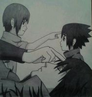 Itachi and sasuke drawing by MinatoUchiha4