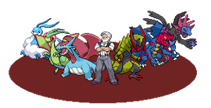 Drayden's team from Unova Leaders Tournament by gamerpainter