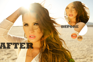 DEMI retouch and added tattoos by caris94