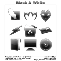 Black and White Icons by pimpmydesk