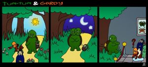 Tum-Tum and Gordy - Lost in the woods by DarkIcePrincess