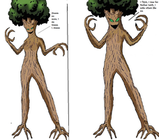 Wonder Woman Tree monster tf 7 by Alonbok77