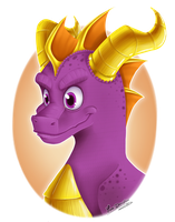 + Speed Painting: Spyro + by Yore-Donatsu