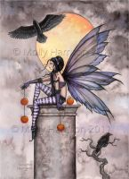 Autumn Raven by Molly Harrison Fantasy Art by mollyh