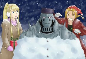 Fullmetal Christmas by LuxLunaris