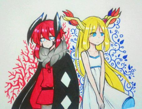 {doodle} Young X and Y by Sapphire-M