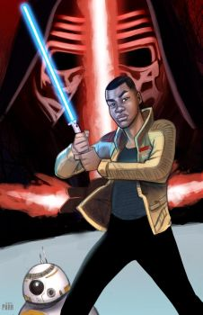 Finn-The Force Awakens by DarthTerry