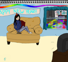 Happy New Year colored by miyumicat
