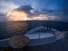 Shipboard Sunset by The-Nightshift