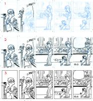 Outnumbered Strip WIP by tombancroft