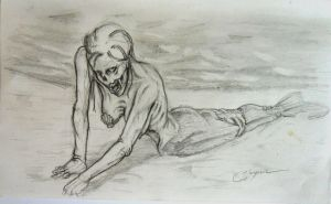 A Zombie Mermaid by harperugby
