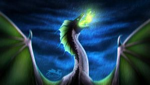 Green fire by Soltia