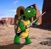 Turtle Cowboy by nikgt
