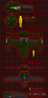 Fighter/Bomber Drones by 0verlordofyou