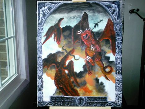 DRAGONS IN FLIGHT by Corax2009