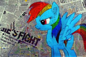 Rainbow Dash - Fight by McDashin