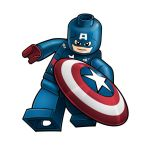 Avengers Lego - Captain America by RobKing21