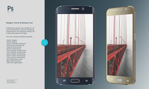 Mockup and Concept Tool S6 and S6 Edge by synergeticink