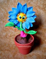 Dancing Blue Daisy by MeadowDelights