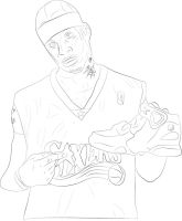 Allen Iverson Drawing by JaminLemon