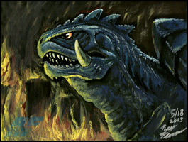 Gamera painting by AlmightyRayzilla