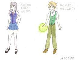 OC: Francoise and Wojciech by Demmi-chan