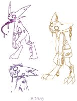 The Neverending Doodles - Sablezombies by VibrantEchoes