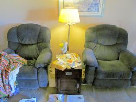 Recliners, lamp and nightstand by BigMac1212
