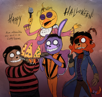 FNAF - Happy Hallowe'en 2015! by Atlas-White